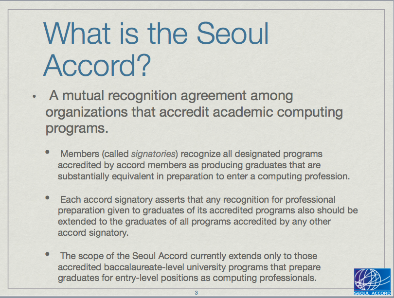 Seoul Accord : Where Are We Now? Presentation for WCC 2015 by Joe ...